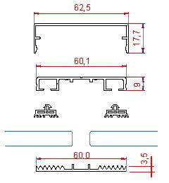 aluprofile und flachprofile zur glasbefestigung auf glasdach bei pergola ebay. Black Bedroom Furniture Sets. Home Design Ideas